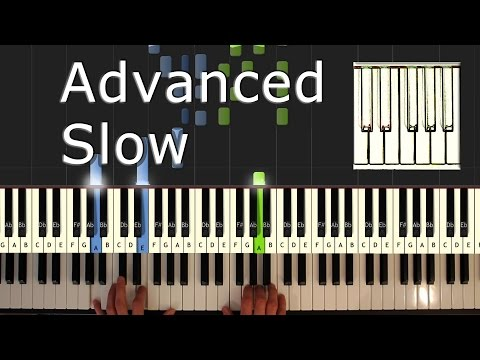 Pink Panther Theme - Piano Tutorial Easy SLOW - How To Play (Synthesia)