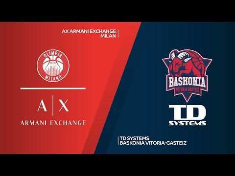 AX Armani Exchange Milan-TD Systems Baskonia Vitoria-Gasteiz Highlights | EuroLeague, RS Round 16