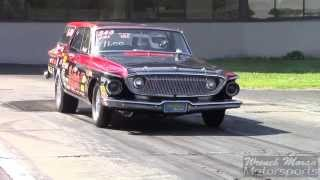 Plymouth Belvedere Wagon Drag Race at CPC 2014