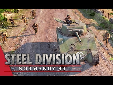 Through The Bocage! Steel Division: Normandy 44 Beta Gameplay #26 (Omaha, 2v2)