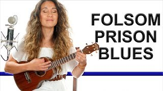 Folsom Prison Blues - Johnny Cash Ukulele Tutorial with Solo Riffs and Play Along