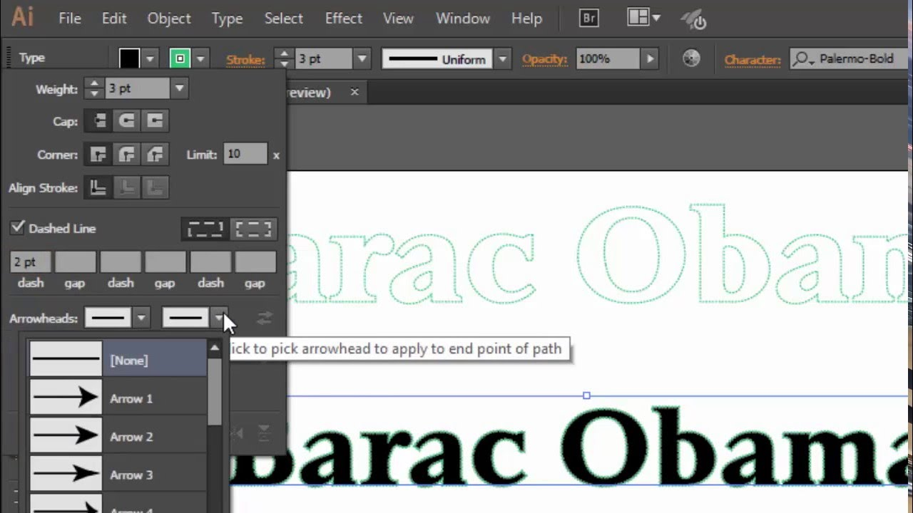 How to Create a Stitched Type Effect in Adobe Illustrator