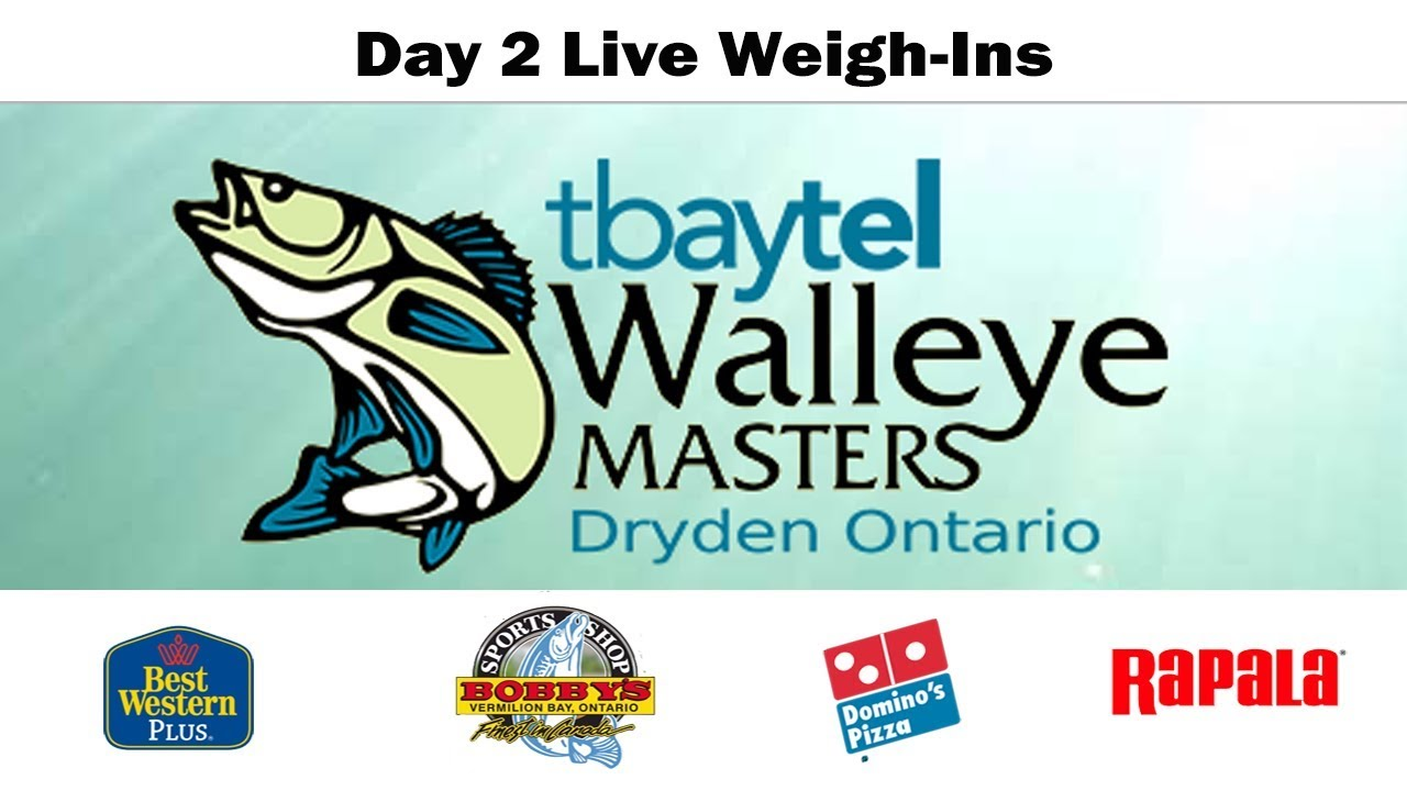 Day 2 Coverage of the tbaytel Dryden Walleye Masters - YouTube