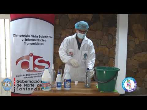 Cómo preparar Hipoclorito de Sodio en casa para limpiar superficies