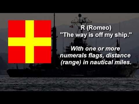 Flag Alphabet  ~ International maritime signal flags