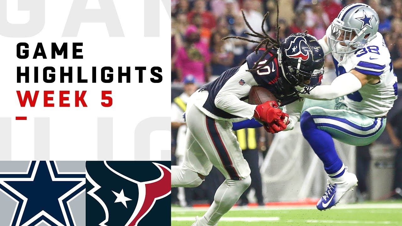 Cowboys vs. Texans Week 5 Highlights | NFL 2018
