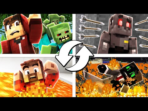 Minecraft: 4 Way Death Swap Fail! (Funny Moments)