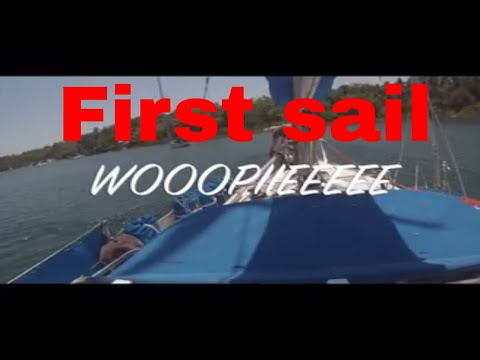 First sail, Tambobo bay, Negros, Philippines. S/V Hawkeye Retirement plans.