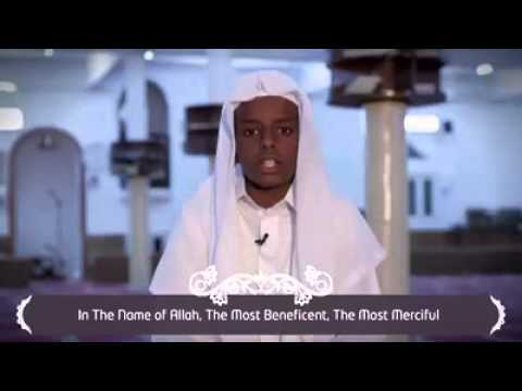 A small boyfrom zanzibar island recite quran