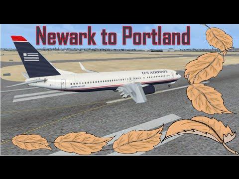 FSX Newark to Portland
