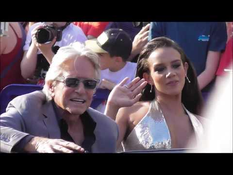 Paul Rudd Evangeline Lilly Michael Douglas arrives AntMan 2 premiere 14 july 2018 Disneyland Paris