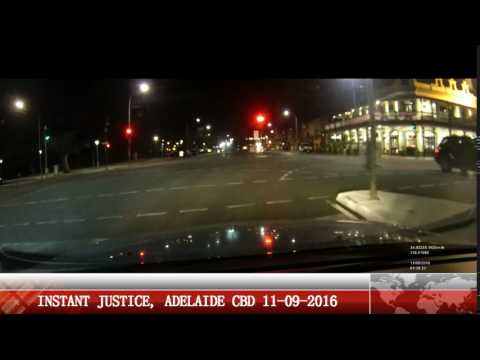 instant justice when car runs red light and gets caught in Adelaide