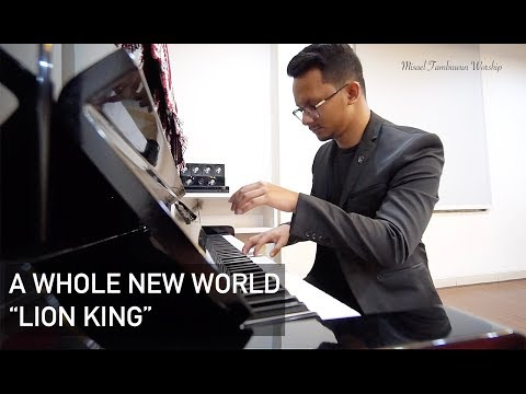 "A Whole New World ""Lion King"" Cover Song By Misael Tambuwun"