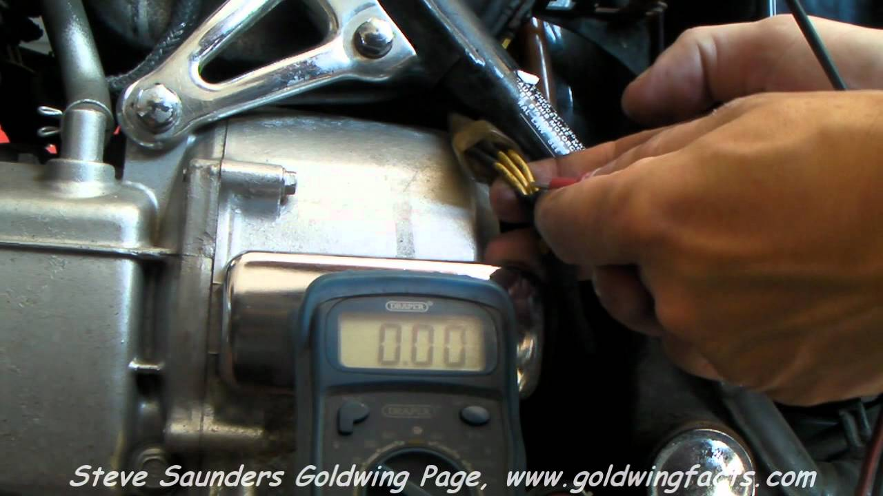 Goldwing Stator Output Check  YouTube