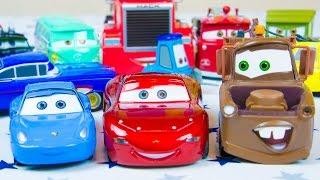 Disney Cars Toys Lightning McQueen Radiator Springs Deluxe Die Cast Set