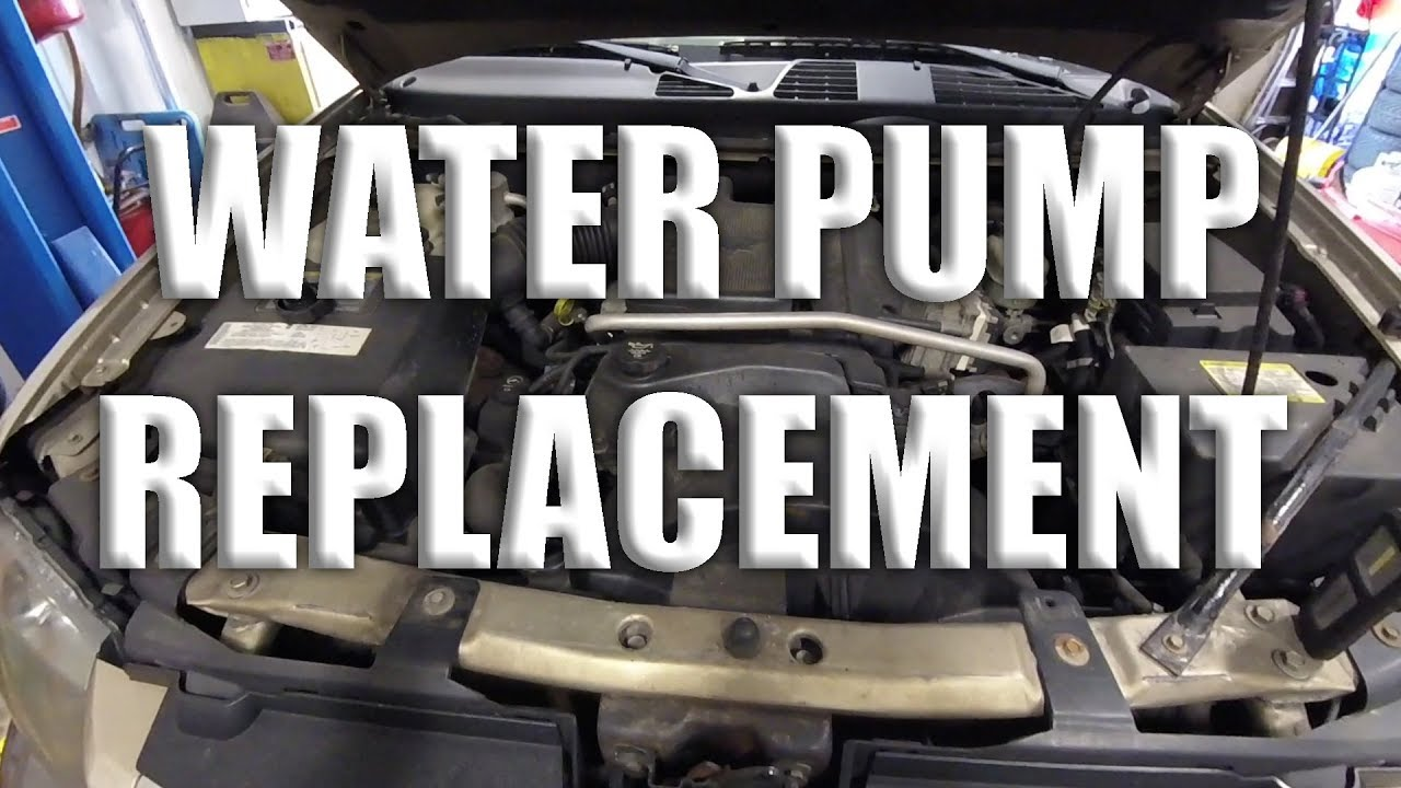 Chevy Trailblazer Water Pump Replacement How To Youtube