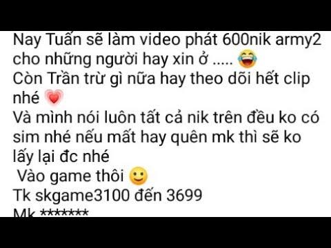 Mobiarmy2: tặng 600nik army2 cho fan