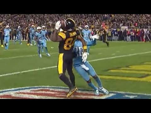 Antonio Brown Makes INSANE One Handed Helmet Catch vs Titans