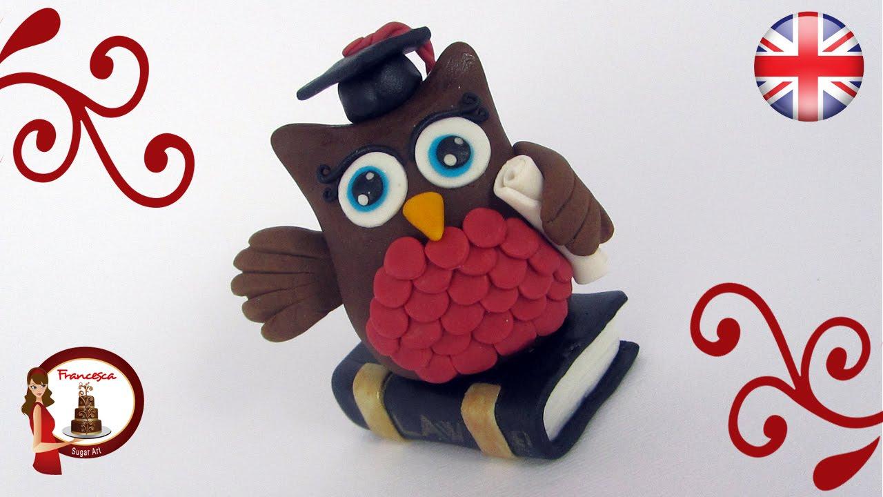 Owl Cake Topper For Graduation