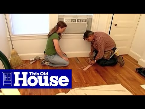 How To Patch Strip Flooring This Old House Youtube