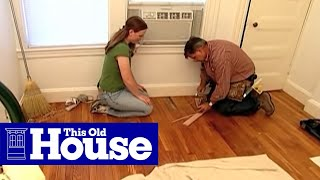 How To Patch Strip Flooring - This Old House