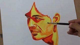 Acrylic Portrait Painting Simple Techniques | Acrylic Art