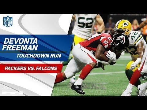 Devonta Freeman Scores TD & Shoots a Free Throw to Celebrate! | Packers vs. Falcons | NFL Wk 2