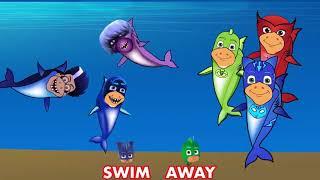 Pj面具,catboy,gekko,owlette,ninja,romeo,luna Baby Shark Song  ep 21
