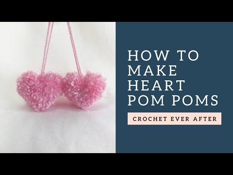 How To Make A Heart Shaped Pom Pom