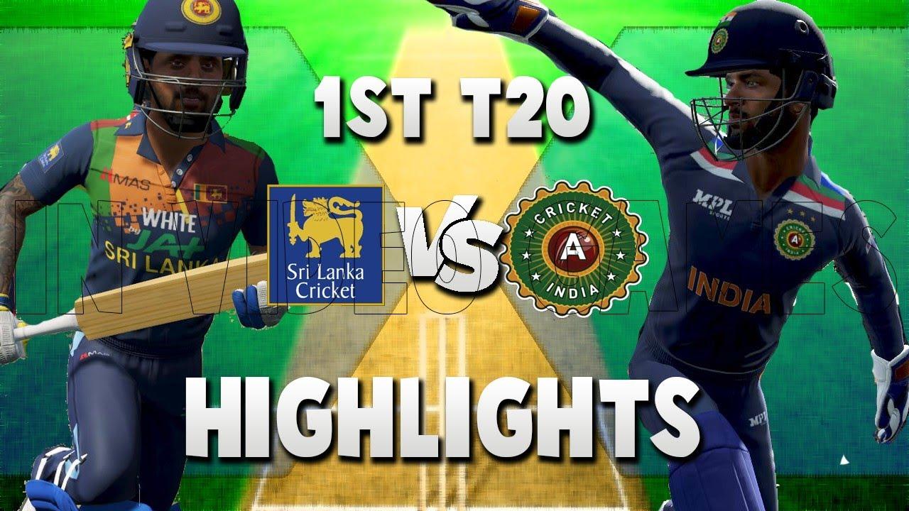 1st T20I India vs Sri Lanka Highlights 2021 | 3 T20 Series - Cricket 19 Ultimate DLC New update