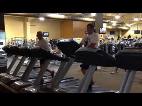 Treadmill Action at Gold's Gym Jacksonville