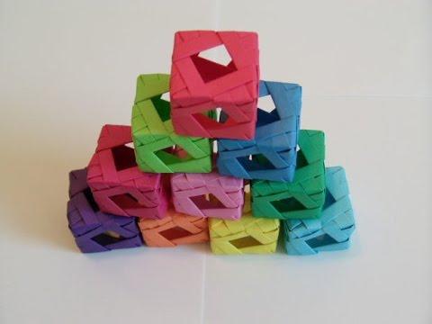 Origami Cube Tutorial [HD] - YouTube - photo#33