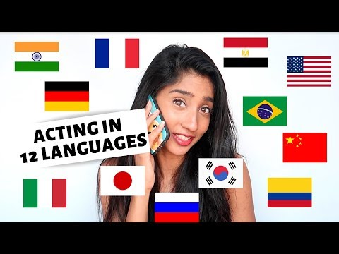 Polyglot Acting in 12 LANGUAGES | Guess Where I Am From!