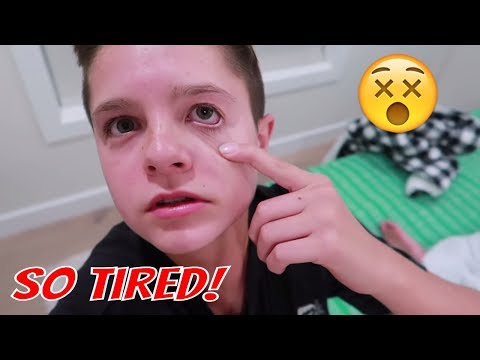 TRYING TO STAY UP ALL NIGHT AND BOSTON SLEEP TALKS!!! | Brock and Boston
