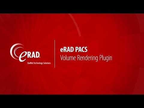 eRAD PACS: 3D Volume Rendering Plugin