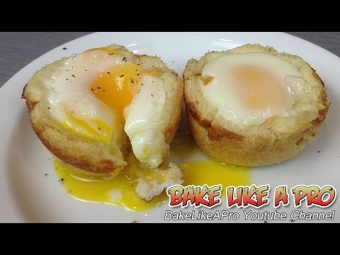 Egg and toast cups recipe / Egg and toast muffins recipe