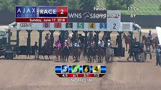 Ajax Downs 06 17 2018 Race 2