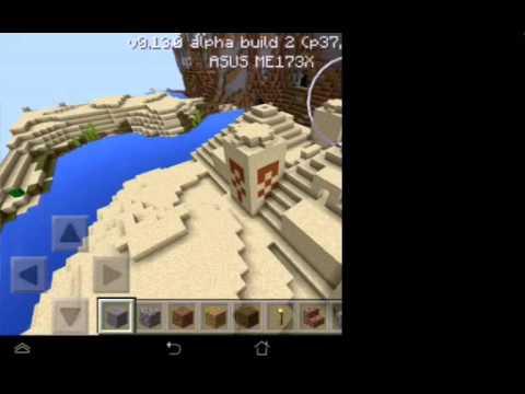 Сид на плоский мас с деревней для майнкрафта 0.13.0