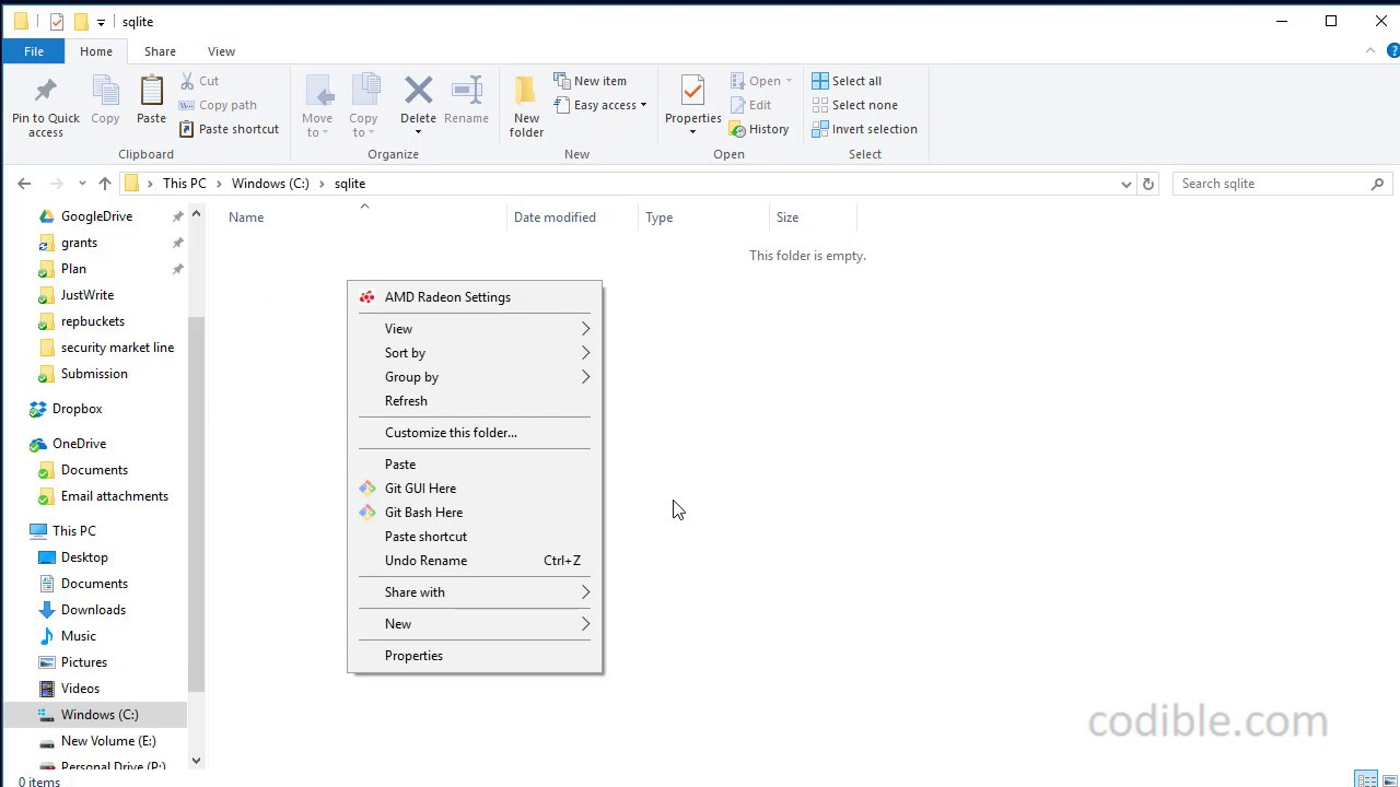 Codible SQLite video 1: How to install sqlite (SQLite3) on windows 10