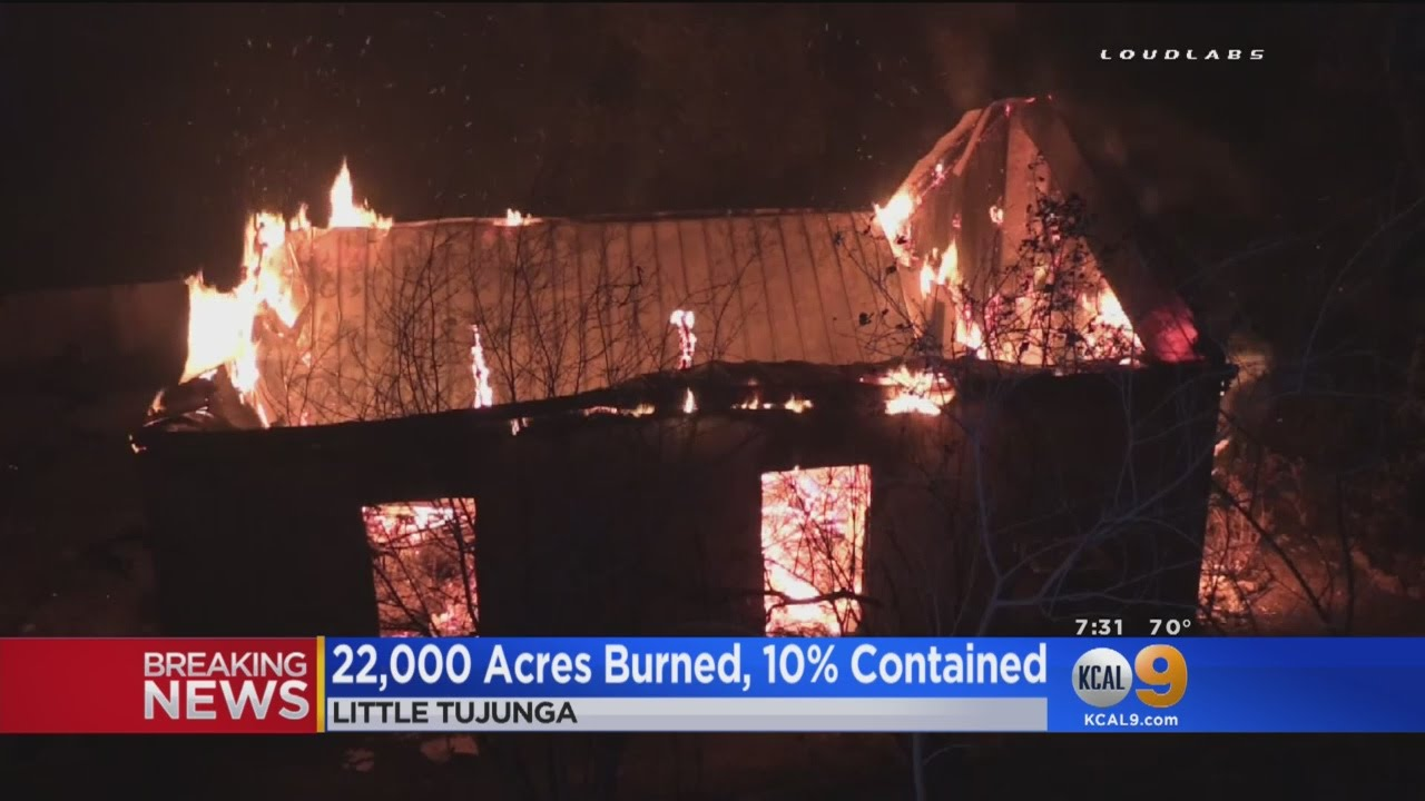 22,000-Acre Sand Fire In Santa Clarita Area Destroys 17 Homes, Threatens  1,500 More