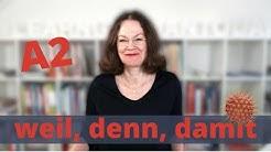 A2 - weil, damit, denn   #learngermantoday