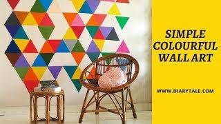 Easy geometric wall art   DIY wall art ideas + tips   Diarytale
