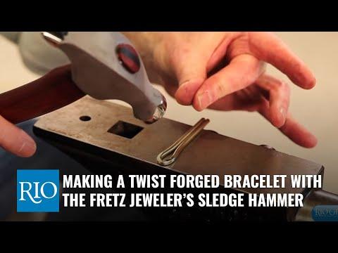Making a Twist Forged Bracelet with the Fretz Jeweler's Sledge Hammer
