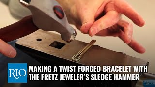 Making a Twist Forged Bracelet with the Fretz Jeweler