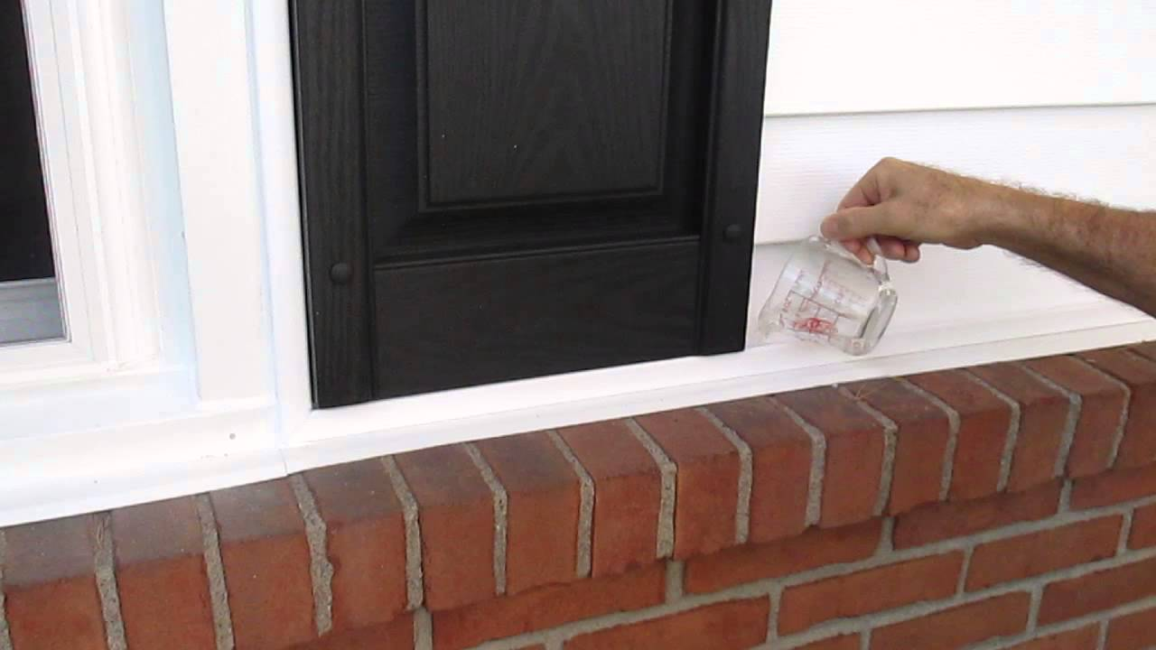 Vinyl Siding J Channel Water Test 1 Youtube