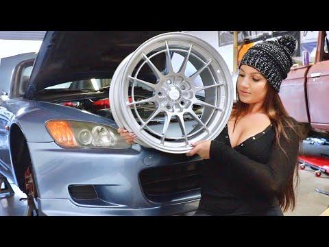 Sabrina's S2000 gets new Wheels!