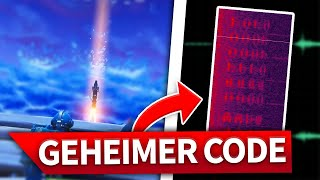 GEHEIMER CODE AT FORTNITE RAKETENSTART! SECRET MESSAGE DURING ROCKET LAUNCH