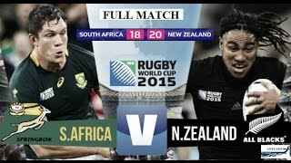 Rugby World Cup 2015 'Full Match' - Semi Final  All Blacks vs South Africa