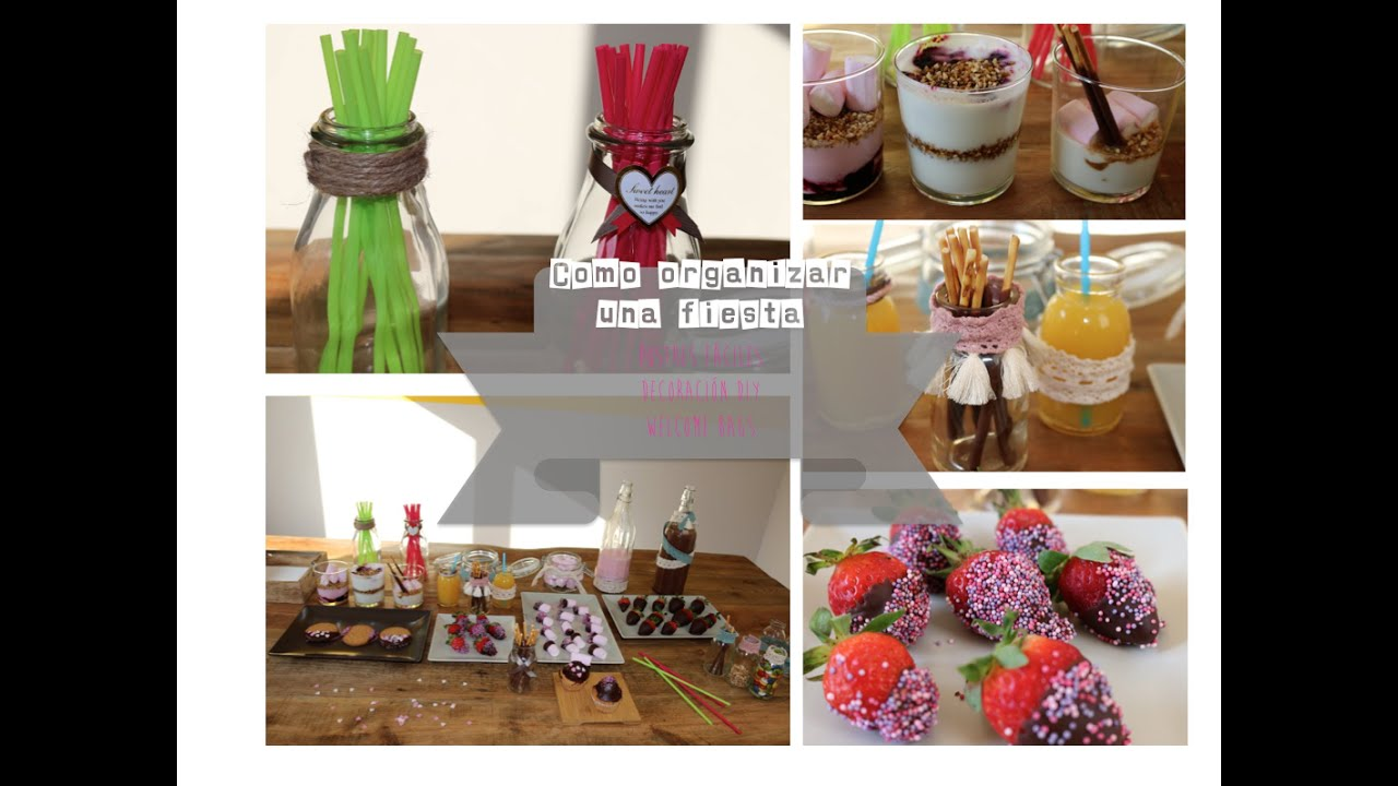 C mo organizar una fiesta decoraci n diy postres for Decoracion postres