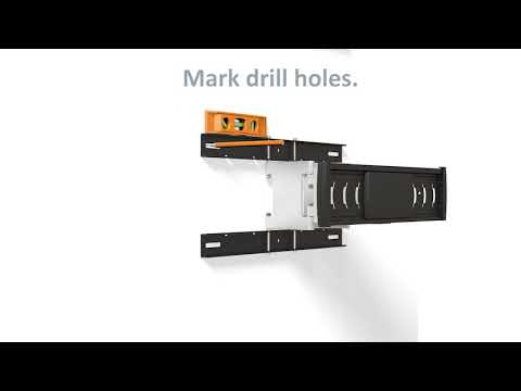 Manhattan Ultra Slim Full-Motion Large-Screen Wall Mount Quick Install Video (Model #461313)